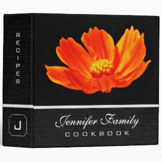Orange Cosmos Flower Family Recipes Binder