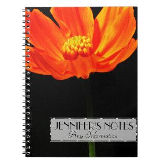 Orange Cosmos Flowers Notebook