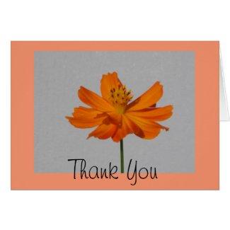 Orange Cosmos Thank You Greeting Card