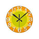 Orange country kitchen clock