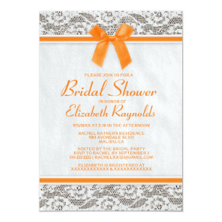 Orange Country Lace Bridal Shower Invitations