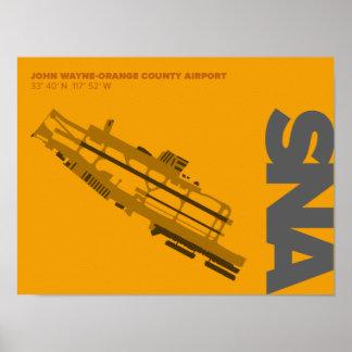 Orange County Airport (SNA) Diagram Poster