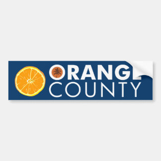Orange County bumper sticker white text