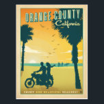"Orange County, CA Postcard<br><div class=""desc"">Anderson Design Group is an award-winning illustration and design firm in Nashville,  Tennessee. Founder Joel Anderson directs a team of talented artists to create original poster art that looks like classic vintage advertising prints from the 1920s to the 1960s.</div>"