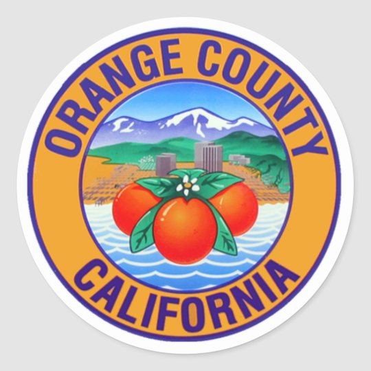 Orange county california sticker 0512