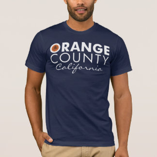 Orange County California white text T-Shirt