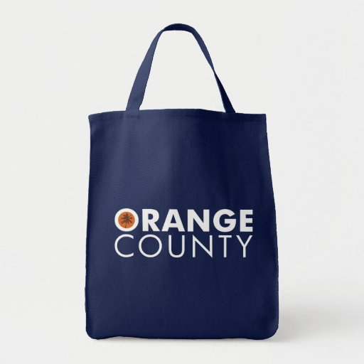 Orange County grocery tote white text Grocery Tote Bag