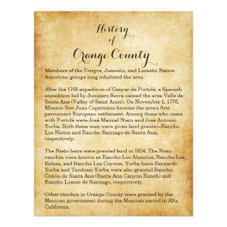 Orange County History Flyer