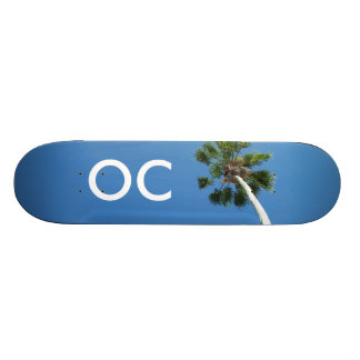 Orange County OC Palm Tree Skateboard Deck Art