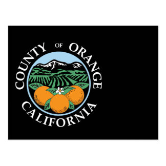 Orange county seal postcard