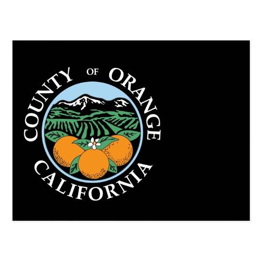 Orange county seal postcard