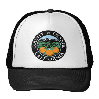 Orange county seal trucker hat