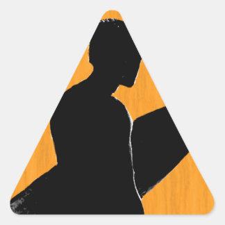 Orange County Surfer Triangle Sticker