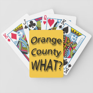 Orange County WHAT? black Bicycle Playing Cards