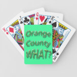Orange County WHAT? green Bicycle Playing Cards