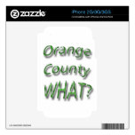 Orange County WHAT? green Skin For The iPhone 2G