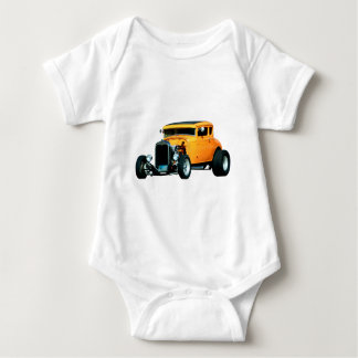 ORANGE COUPE BABY BODYSUIT