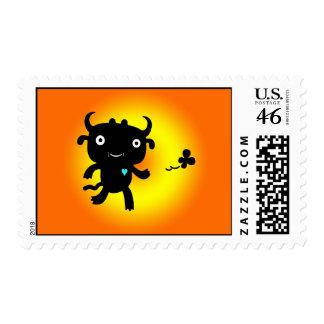 Orange Cow Creature Love Stamps