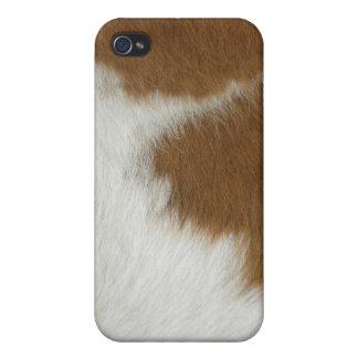 Orange cow hide iPhone 4 case