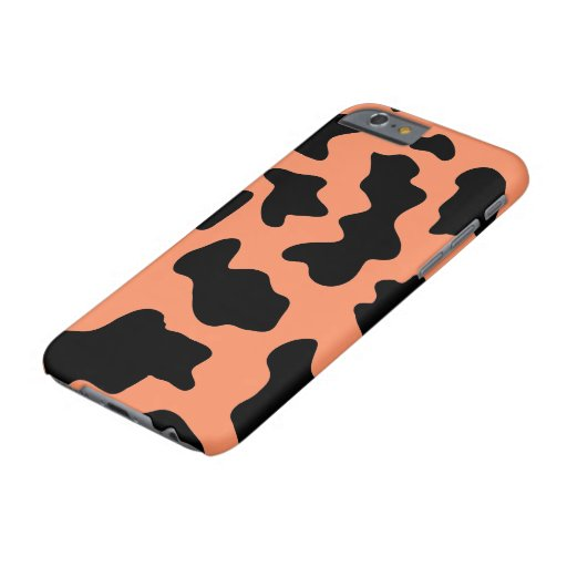 Orange Cow Print Editable Barely There iPhone Case