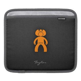 Orange Cowboy iPad Sleeves