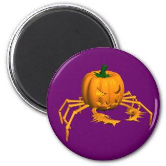 Orange Crab 2 Inch Round Magnet