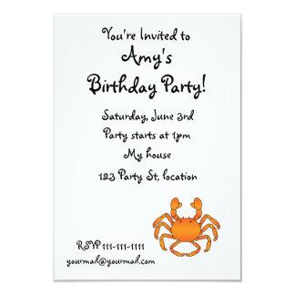 Orange crab card