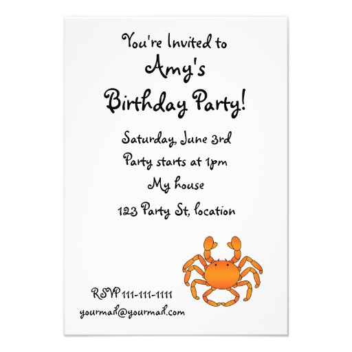 Orange crab announcement