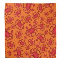 Orange crab pattern bandana