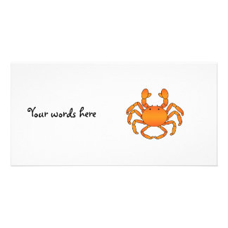 Orange crab photo card