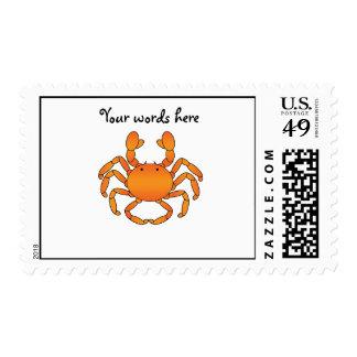 Orange crab stamps