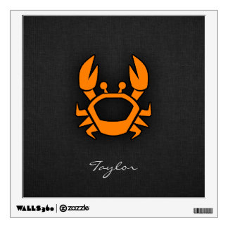 Orange Crab Wall Sticker