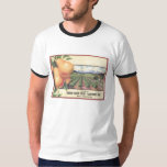 Orange Crate Art GREEN BLUFF Fruit Growers T-Shirt