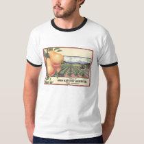 Orange Crate Art GREEN BLUFF Fruit Growers T-Shirt