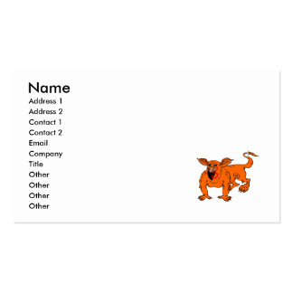 Orange Crawling Silly Dragon Business Card