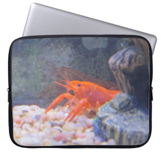 Orange crayfish lobster tank laptop sleeve