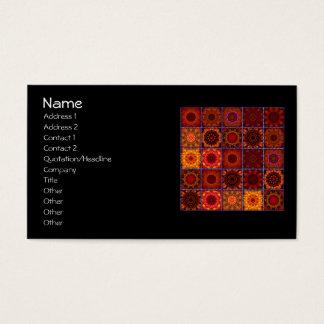Orange Crazy Patchwork  Quilt Business Card