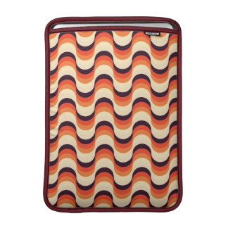 Orange, Cream, Brown Retro Fifties Abstract Art Sleeve For MacBook Air