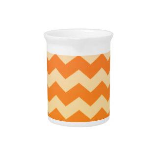 Orange Cream Chevron Pitchers