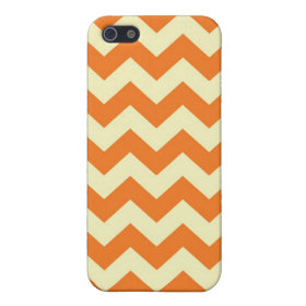 Orange Cream Citrus Chevron ZigZag Stripes Gifts iPhone 5 Case