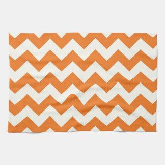 Orange Cream Citrus Chevron ZigZag Stripes Gifts Kitchen Towel