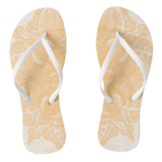 Orange Cream Fleury Flip Flops