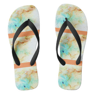 ORange Cream Galaxy Flip Flops