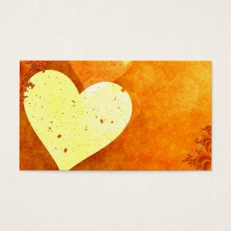 ORANGE CREAM HEATS LOVE DIGITAL BACKGROUNDS WALLPA BUSINESS CARD