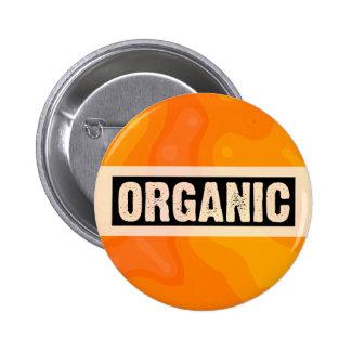Orange Cream - Organic Pinback Button