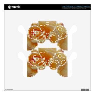 Orange Cream Rose Skin For PS3 Controller