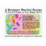Orange Cream Sickletini Ice Cream Martini Postcard
