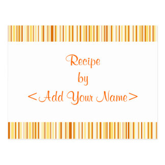 Orange Cream Stripes Recipe Cards 4 x 6