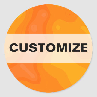Orange Creme Classic Round Sticker