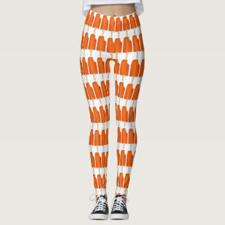Orange Creme Creamsicle Ice Cream Popsicle Print Leggings